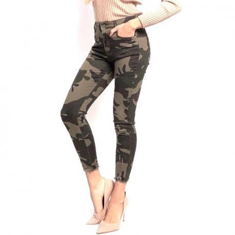 Jeans Camouflage Grand Taille